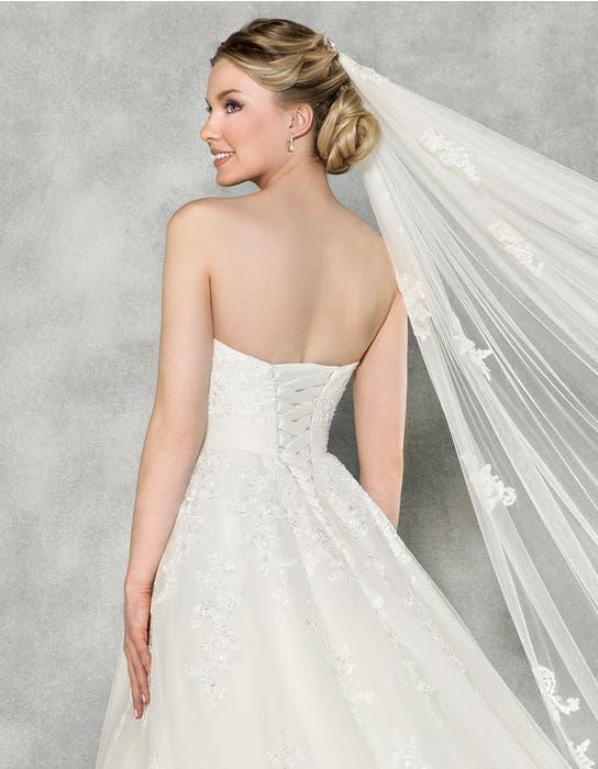 Emmeline ballgown wedding dress back crop Anna Sorrano