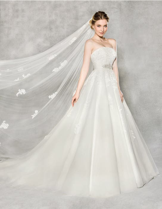 Emmeline ballgown wedding dress front Anna Sorrano