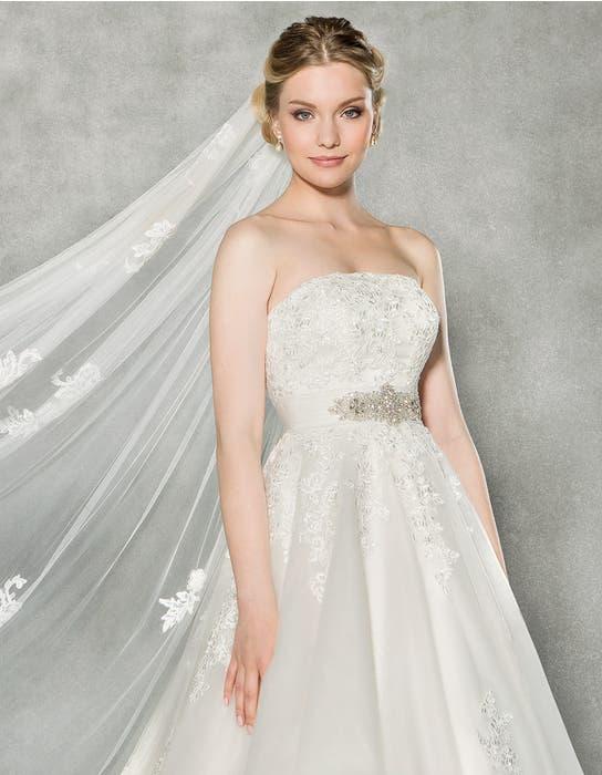 Emmeline ballgown wedding dress front crop Anna Sorrano