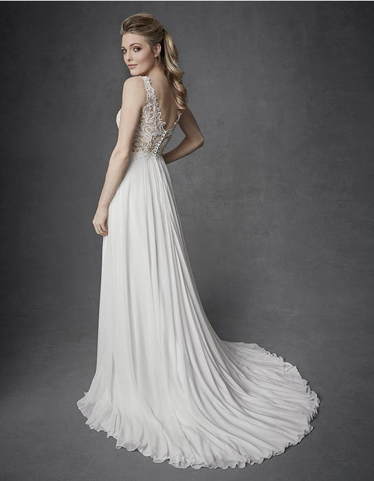 Enya aline wedding dress back Signature