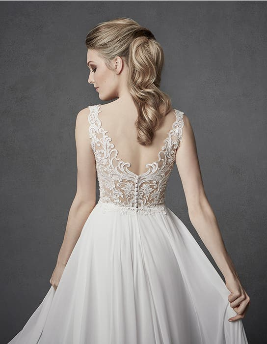 Enya aline wedding dress back crop Signature