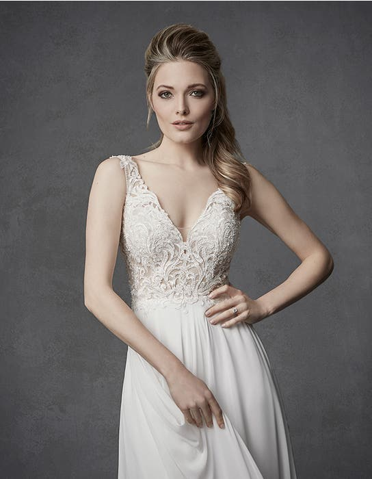 Enya aline wedding dress front crop Signature