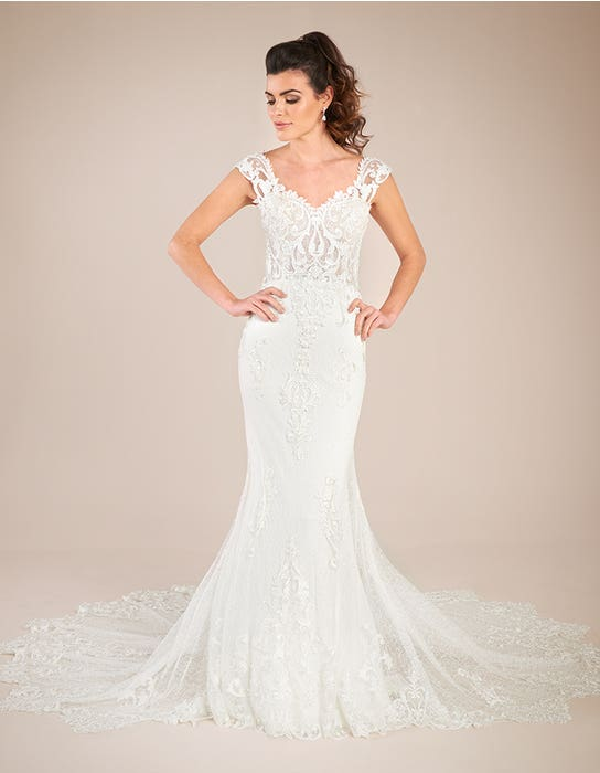 Enzo - an ornate sheath gown with statement train | WED2B
