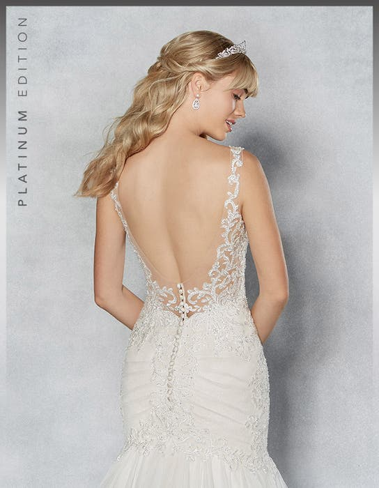 Erica fishtail wedding dress back crop Viva Bride