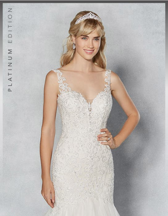 Erica fishtail wedding dress front crop Viva Bride