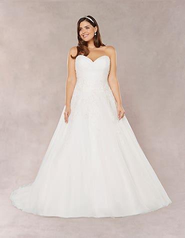 Estelle aline wedding dress front Bellami th