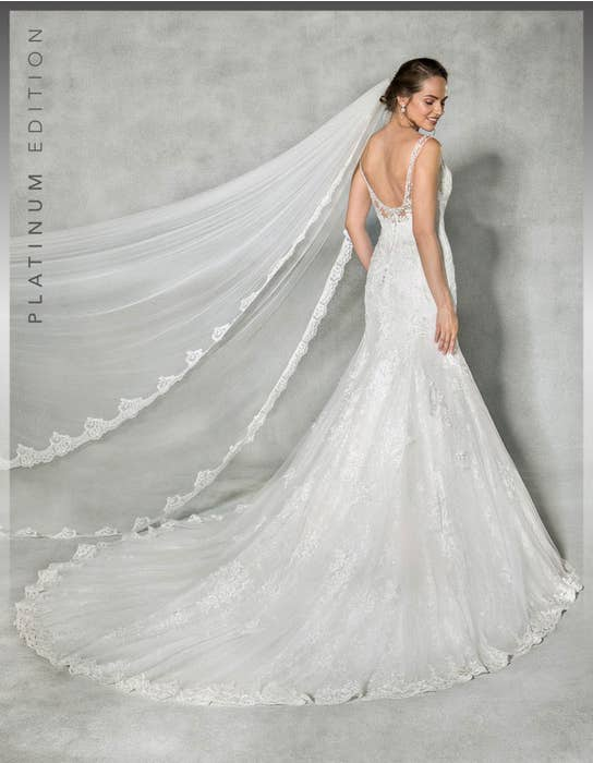 Evangeline fishtail wedding dress back Anna Sorrano