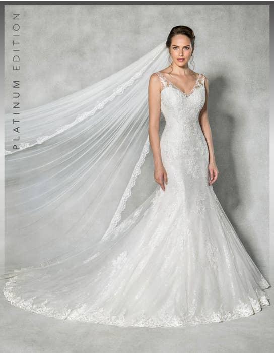 Evangeline fishtail wedding dress front Anna Sorrano