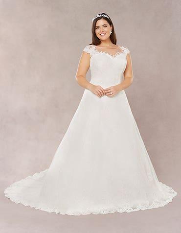 Evia aline wedding dress front Bellami th