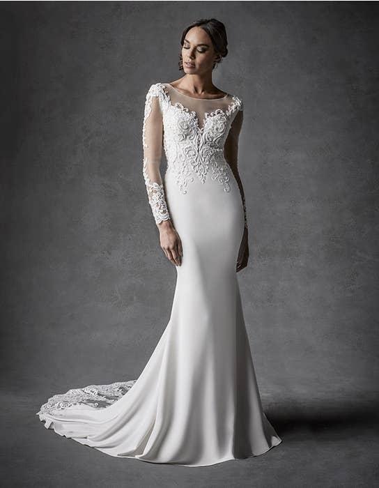 Farah sheath wedding dress front Signature