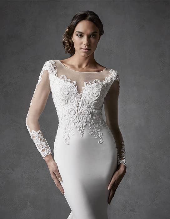 Farah sheath wedding dress front crop Signature