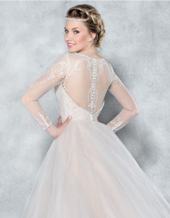Ferne ballgown wedding dress back crop Viva Bride