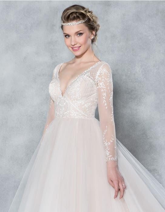 Ferne ballgown wedding dress front crop Viva Bride