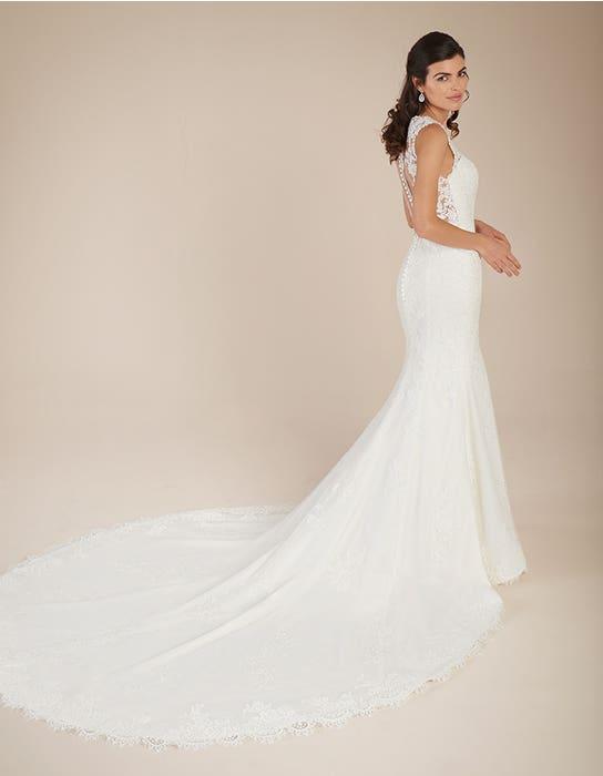 Ferris blush fishtail wedding dress back Viva Bride