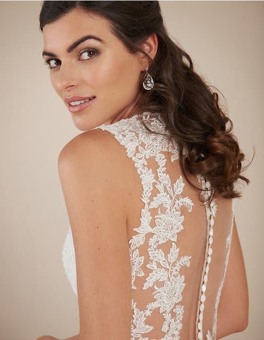 Ferris blush fishtail wedding dress back crop2 Viva Bride