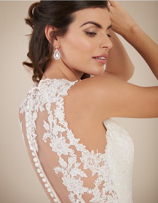 Ferris blush fishtail wedding dress back crop Viva Bride