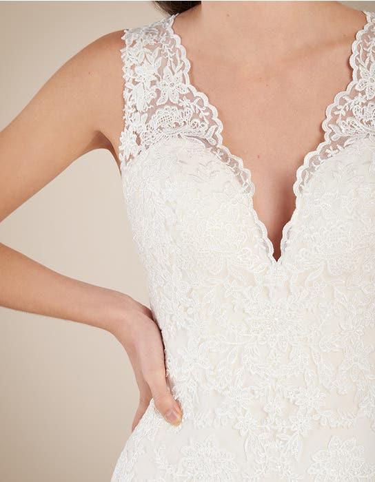Ferris blush fishtail wedding dress front crop Viva Bride