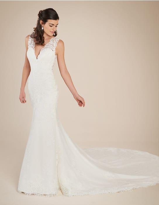 Ferris fishtail wedding dress front Viva Bride