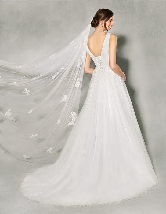 Francine aline wedding dress back Anna Sorrano