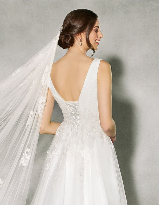 Francine aline wedding dress crop back Anna Sorrano