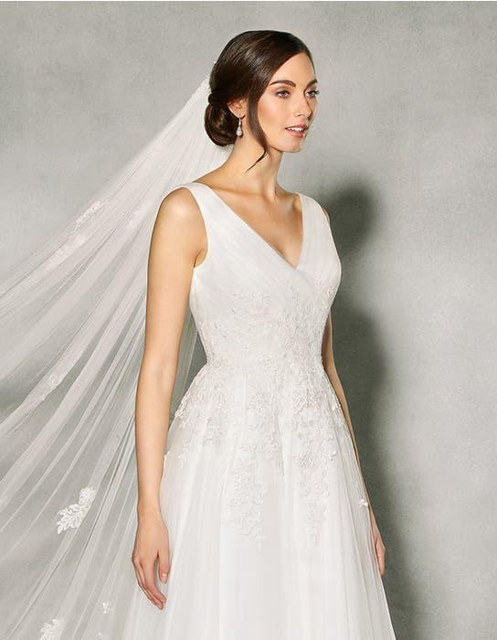 Francine aline wedding dress crop front Anna Sorrano
