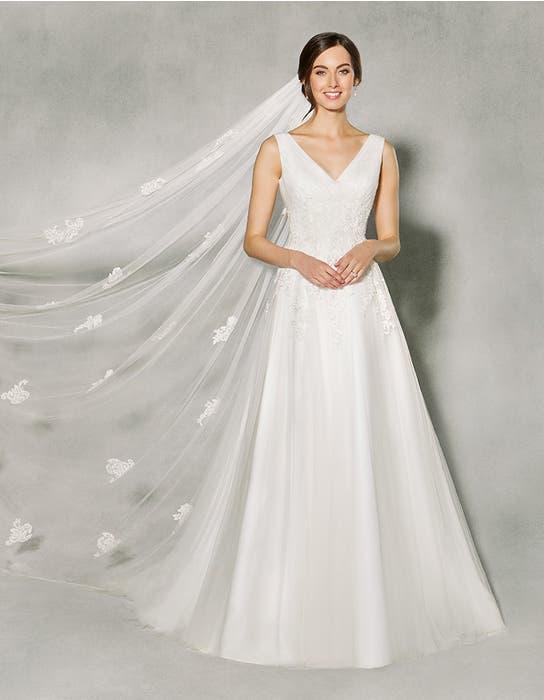 Francine aline wedding dress front Anna Sorrano