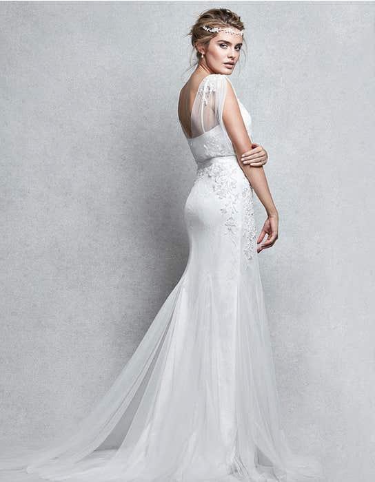 Gala sheath wedding dress back Signature