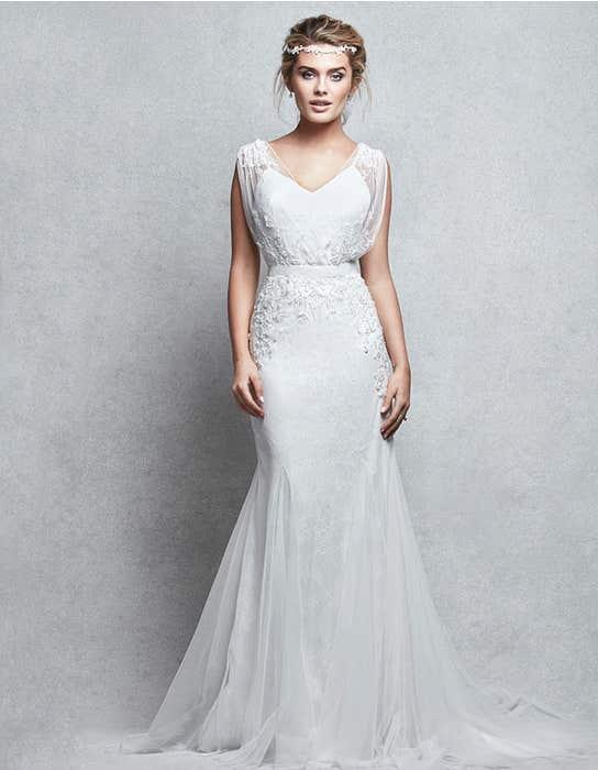 Gala sheath wedding dress front Signature