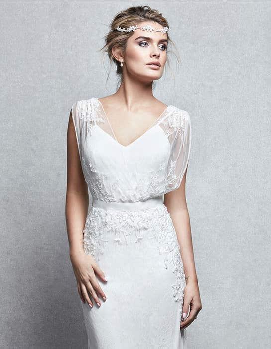 Gala sheath wedding dress front crop Signature