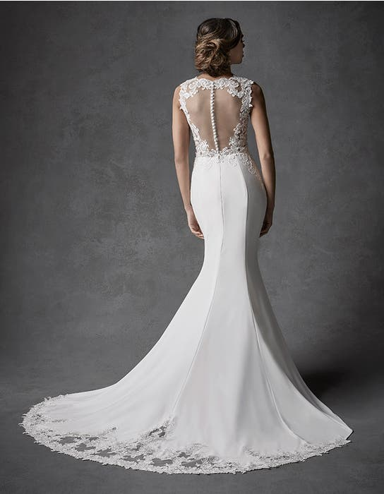 Galilea sheath wedding dress back Signature