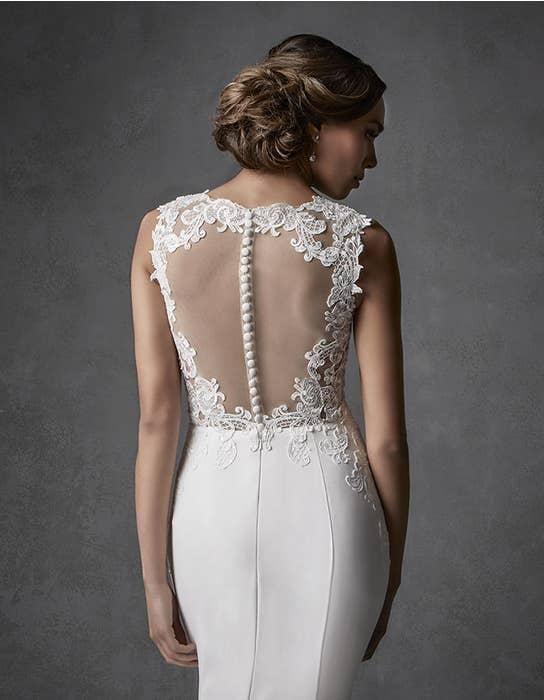 Galilea sheath wedding dress crop back Signature