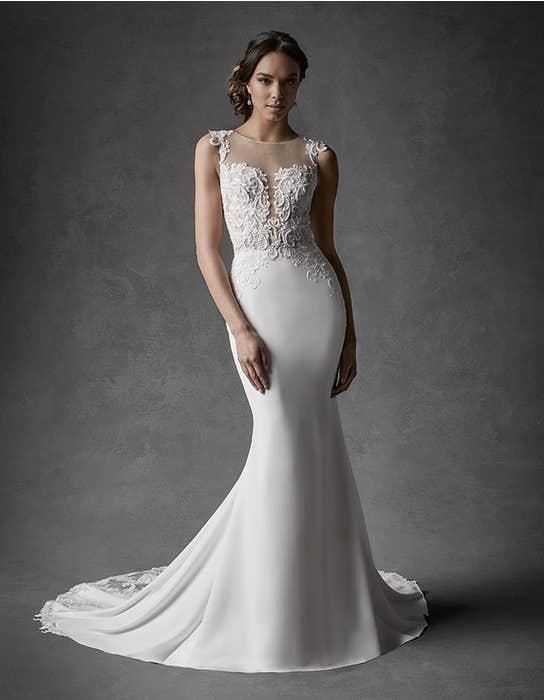 Galilea sheath wedding dress front Signature