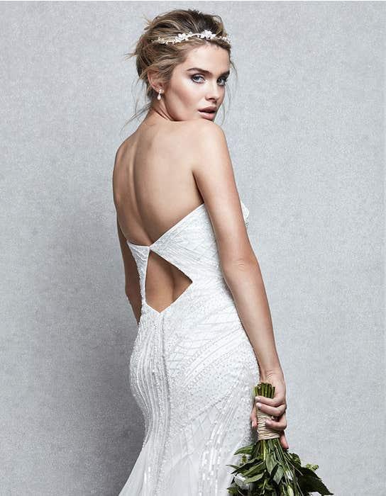 Genesis fishtail wedding dress crop back Signature