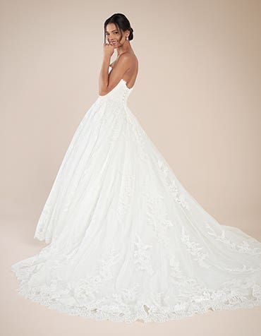 Georgette Aline wedding dress back Anna Sorrano th