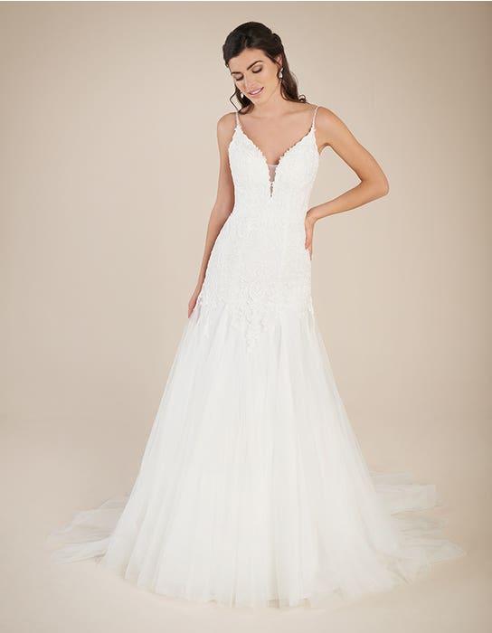 Ginger Fishtail wedding dress front Viva Bride