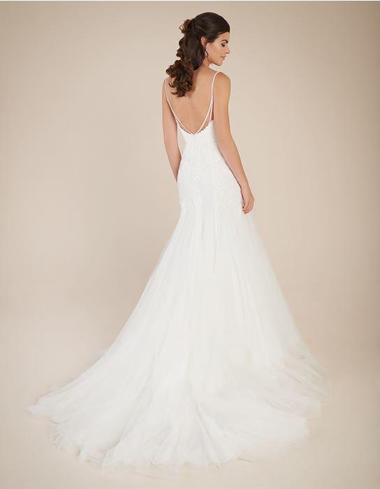 Ginger fishtail wedding dress back Viva Bride