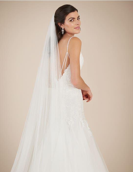 Ginger fishtail wedding dress back crop Viva Bride