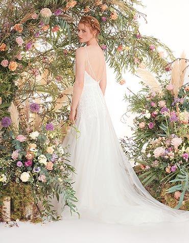 Ginger fishtail wedding dress back edit Viva Bride th