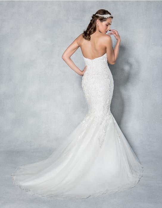 Gracie fishtail wedding dress back Viva Bride