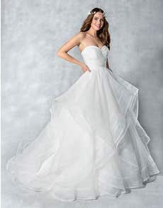 HADLEY - with a cascading waterfall skirt