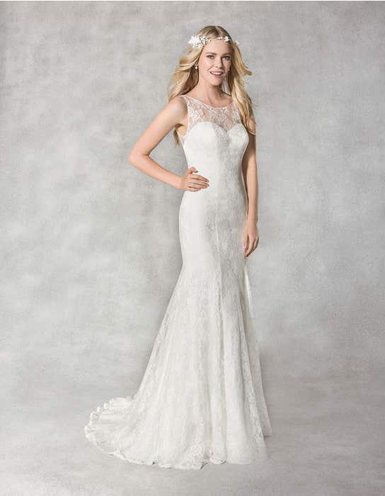 Hailey fishtail wedding dress front Heidi Hudson