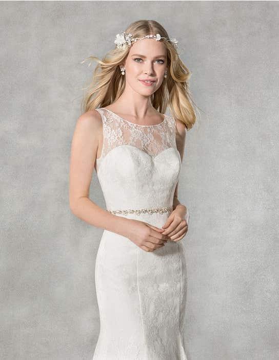 Hailey fishtail wedding dress front crop Heidi Hudson