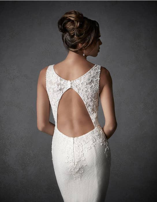 Harley sheath wedding dress crop back Signature