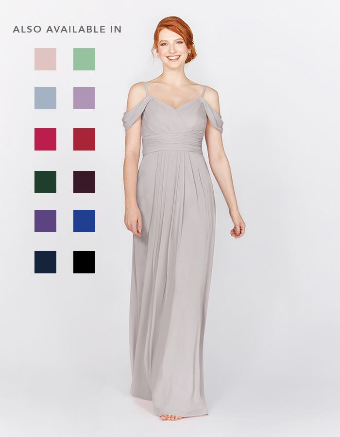 Haven silver grey bridesmaids dress front Infinite th