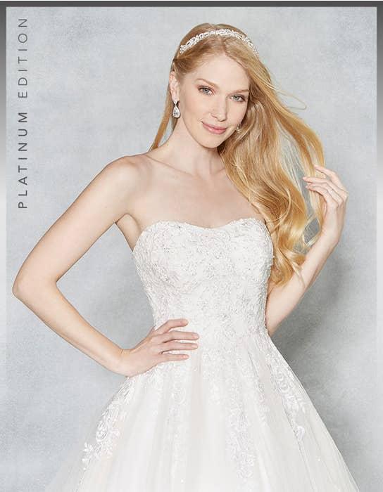 Hayley ballgown wedding dress crop front Viva Bride