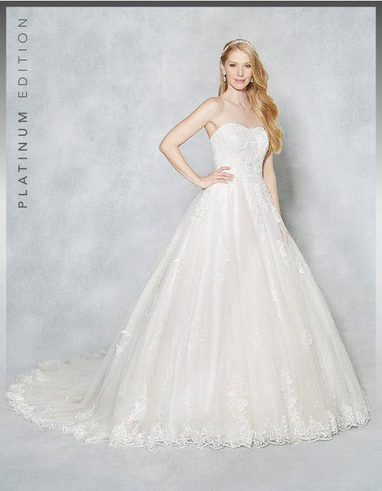 Hayley ballgown wedding dress front Viva Bride