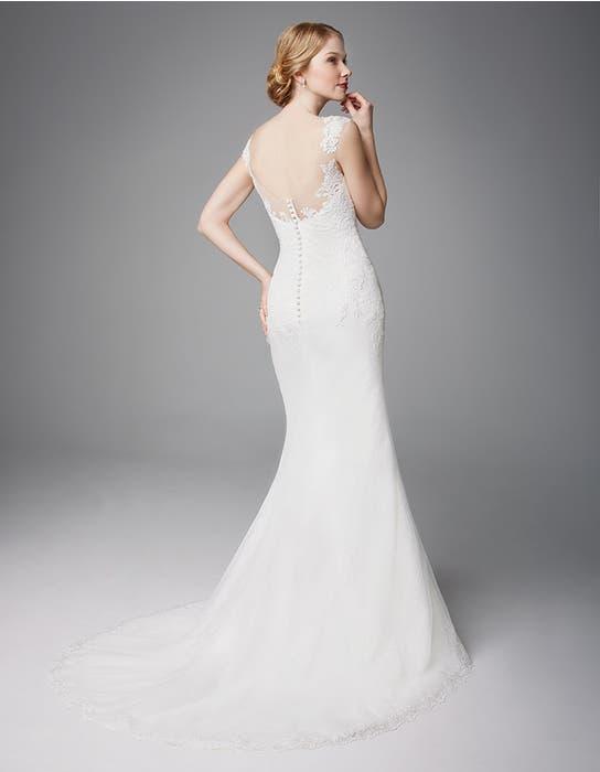 Heather sheath wedding dress back Anna Sorrano