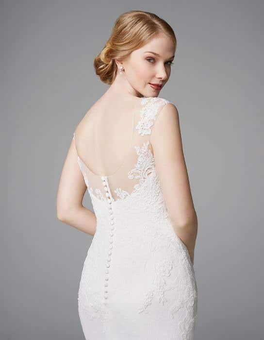 Heather sheath wedding dress crop back Anna Sorrano