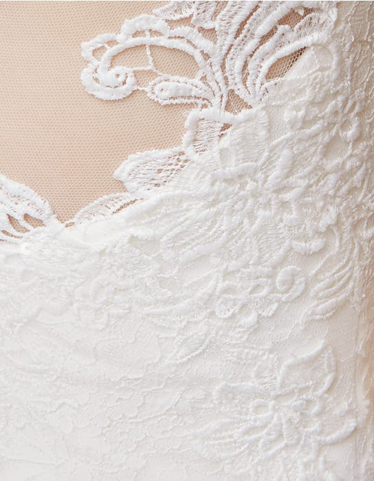 Heather sheath wedding dress detail Anna Sorrano