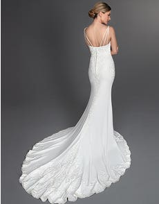 Hendrix - a unique sheath wedding gown